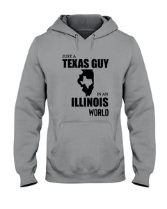 Just A Texas Guy In An Illinois  World Personalized Nation Gifts Hoodie