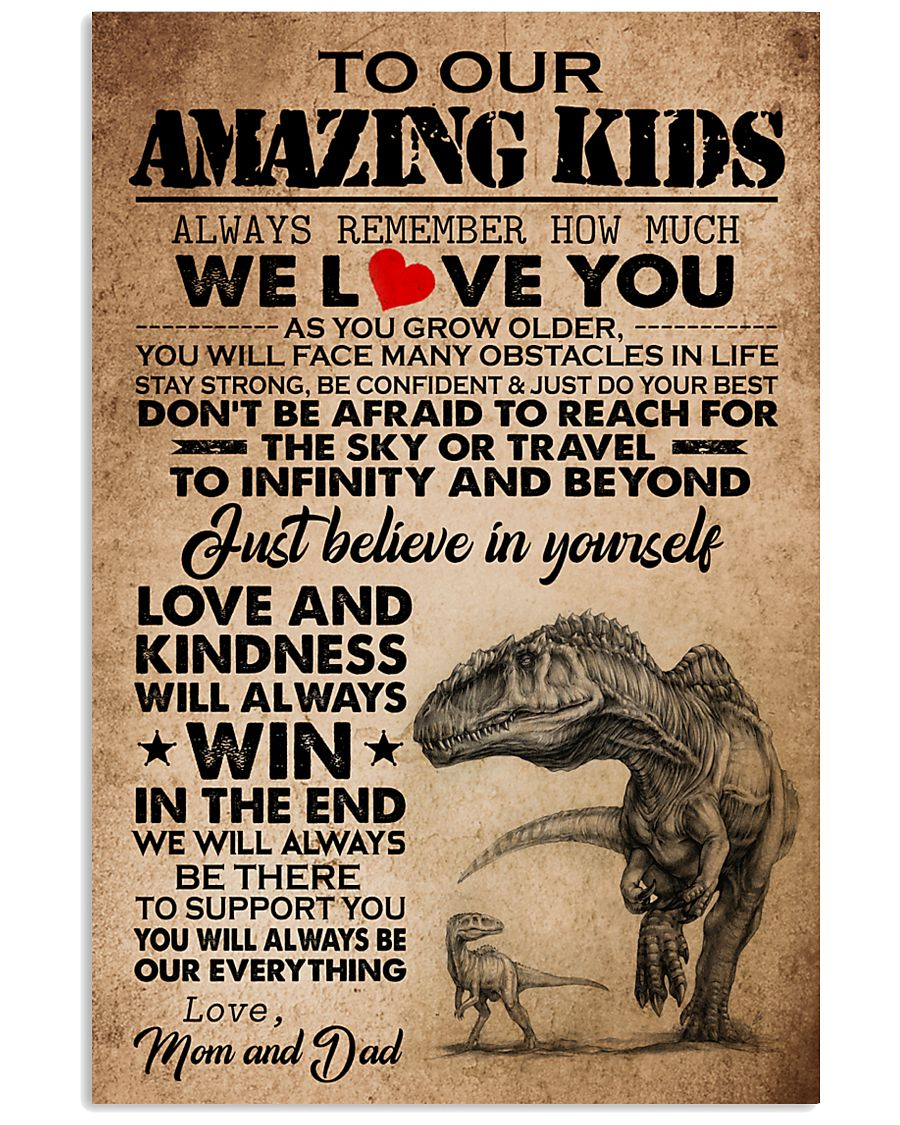 To My Amazing Kids Love And Kindness Will Always Win Gifts From Mom And Dad Vertical Poster