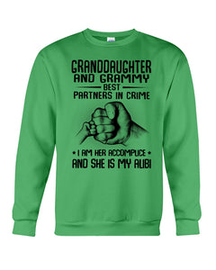 Granddaughter And Grammy Best Partners In Crime Custom Design Sweatshirt