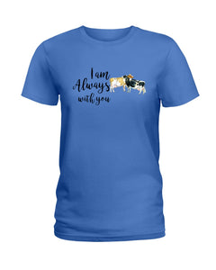 Vintage Funny Cow Always With You Birthday Gift Ladies Tee
