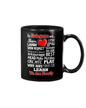 Load image into Gallery viewer, In Kindergarten We Work Hard Have Fun Learn We Are Family Mug