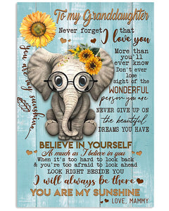 Never Forget  That I Love You Quote Gift For Granddaughter From Mammy Vertical Poster