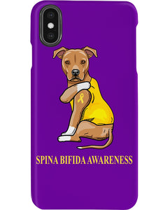 Spina Bifida Awareness Gift For Dog Lovers Custom Design Phone case