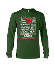 Load image into Gallery viewer, In Kindergarten We Work Hard Have Fun Learn We Are Family Unisex Long Sleeve