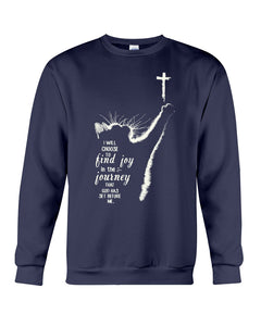 Cat I Will Choose To Find Joy In The Journey Custom Design For Cat Lovers Sweatshirt
