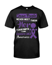 Load image into Gallery viewer, Some People Never Meet Their Her Pancreatic Cancer Awareness Guys Tee