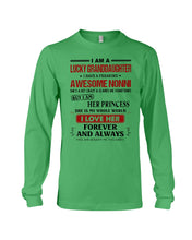 Load image into Gallery viewer, I Am A Lucky Granddaughter Of A Freaking Awesome Nonni Unisex Long Sleeve