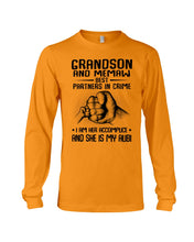 Load image into Gallery viewer, Grandson And Memaw Best Partners In Crime Gifts Unisex Long Sleeve