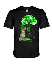 Load image into Gallery viewer, Love Balloons Happy St Patrick's Day For Cat Lovers Guys V-Neck