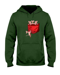 Lovely Sphynx  Pocket Gifts For Cat Lovers Hoodie