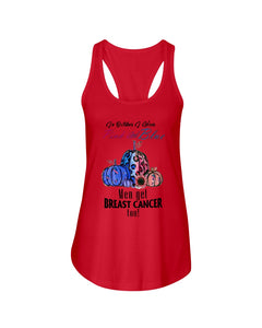 In Octorber We Wear Pink And Blue Breast Cancer Custom Design Ladies Flowy Tank