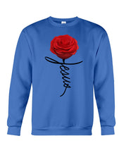 Load image into Gallery viewer, Jesus Rose Flower Special Simple Custom Design Sweatshirt
