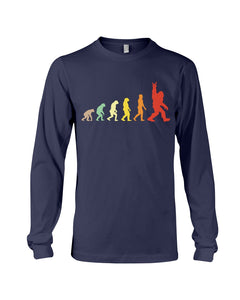 Funny Evolution Bigfoot Rock And Roll Custom Design For Bigfoot Lovers Unisex Long Sleeve