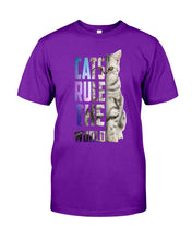 Load image into Gallery viewer, Cats Rule The World Special Cat Design Gifts For Cat Lovers Guys Tee