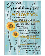 Load image into Gallery viewer, Never Forget That I Love You Quote Gift For Granddaughter From Mimi And Grandpa Vertical Poster