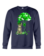 Load image into Gallery viewer, Love Balloons Happy St Patrick's Day For Cat Lovers Sweatshirt