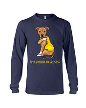 Load image into Gallery viewer, Spina Bifida Awareness Gift For Dog Lovers Custom Design Unisex Long Sleeve
