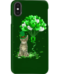 Love Balloons Happy St Patrick's Day For Cat Lovers Phone case