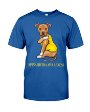 Load image into Gallery viewer, Spina Bifida Awareness Gift For Dog Lovers Custom Design Guys Tee