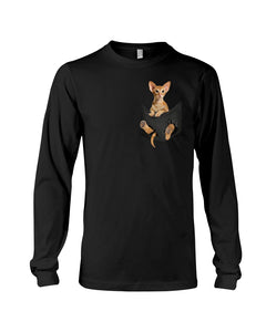 Vintage Funny Cat In Your Front Pocket Birthday Gift Unisex Long Sleeve