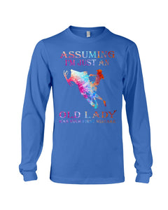 Assuming I'm Just An Old Lady Gift For Snowmobile Lovers Unisex Long Sleeve