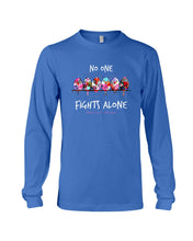 Load image into Gallery viewer, No One Fights Alone For Breast Cancer Awareness Unisex Long Sleeve
