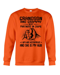 Grandson And Grandmy Best Partners In Crime - I Am Her Accomplice Sweatshirt