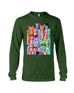 Boston Terrier Multi  Unique  Custom Design For Dog Lovers Unisex Long Sleeve