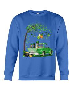 Pit Bull Shamrock Truck For St.Patrick's Day Gifts For Dog Lovers Sweatshirt