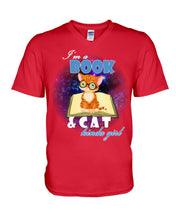 Load image into Gallery viewer, I'm A Book And Cat Kinda Girl  Meaningful Gifts For Cat Lovers Guys V-Neck