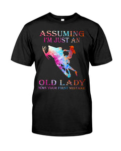Assuming I'm Just An Old Lady Gift For Snowmobile Lovers Guys Tee