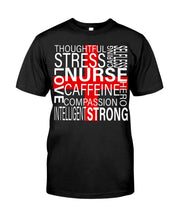 Load image into Gallery viewer, Thoughful Stress Strong Nurse Custom Design Guys Tee
