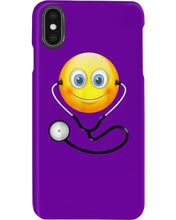 Load image into Gallery viewer, Cute Smiling Nurse Emoji Face Wearing Stethoscope Great Gift For Doctor's Day Phone case