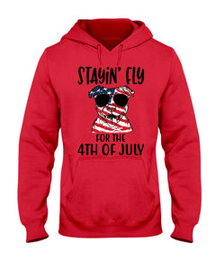 Staying Fly For The 4Th Of July Custom Design Hoodie