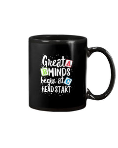 Great Mind Begin At Head Start Message A B C Gifts Mug