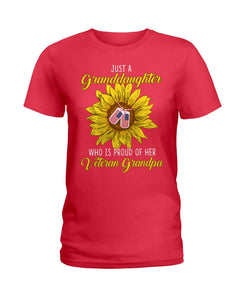 Just A Granddaughter Who Is Proud Of Her Vietnam Grandpa Gifts Ladies Tee