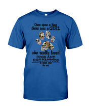 Load image into Gallery viewer, A Girl Loved Dogs And   Had Tattoos  Custom Design For Dog Lovers Guys Tee