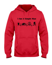 Load image into Gallery viewer, Simple Man Bigfoot Loving Camping Loving Peace Custom Design Hoodie