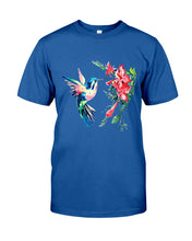 Load image into Gallery viewer, Color Hummingbird Funny Custom Design For Bird Lover Guys Tee