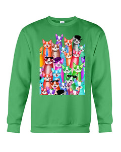 Boston Terrier Multi  Unique  Custom Design For Dog Lovers Sweatshirt