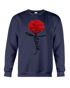 Jesus Rose Flower Special Simple Custom Design Sweatshirt