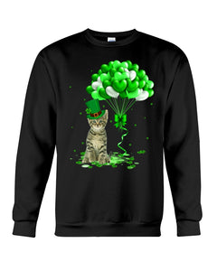Love Balloons Happy St Patrick's Day For Cat Lovers Sweatshirt