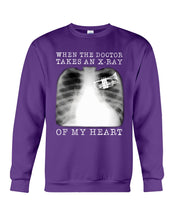 Load image into Gallery viewer, When The Doctor Takes An X-Ray Of My Heart For Trumpet Lovers Sweatshirt