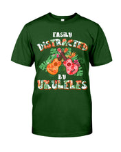 Load image into Gallery viewer, Easily Distracted By    Ukulele Trending For Music Instrument Lovers Guys Tee