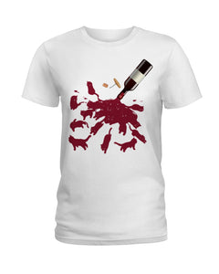 Cats And Wine Great Gift For Wine Lovers Who Loves Cat Ladies Tee