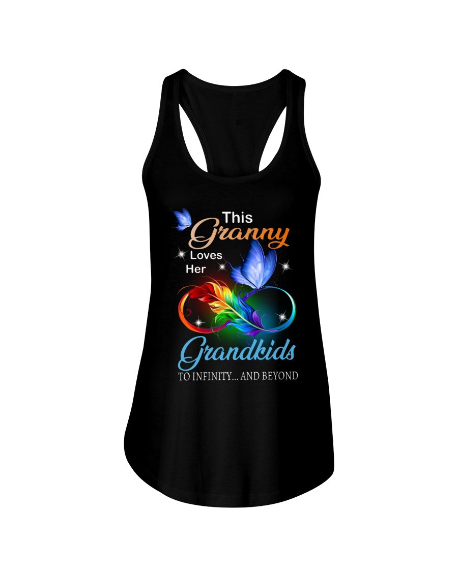 This Granny Loves Her Grandkids To Infinity And Beyond Graphic Design Ladies Flowy Tank