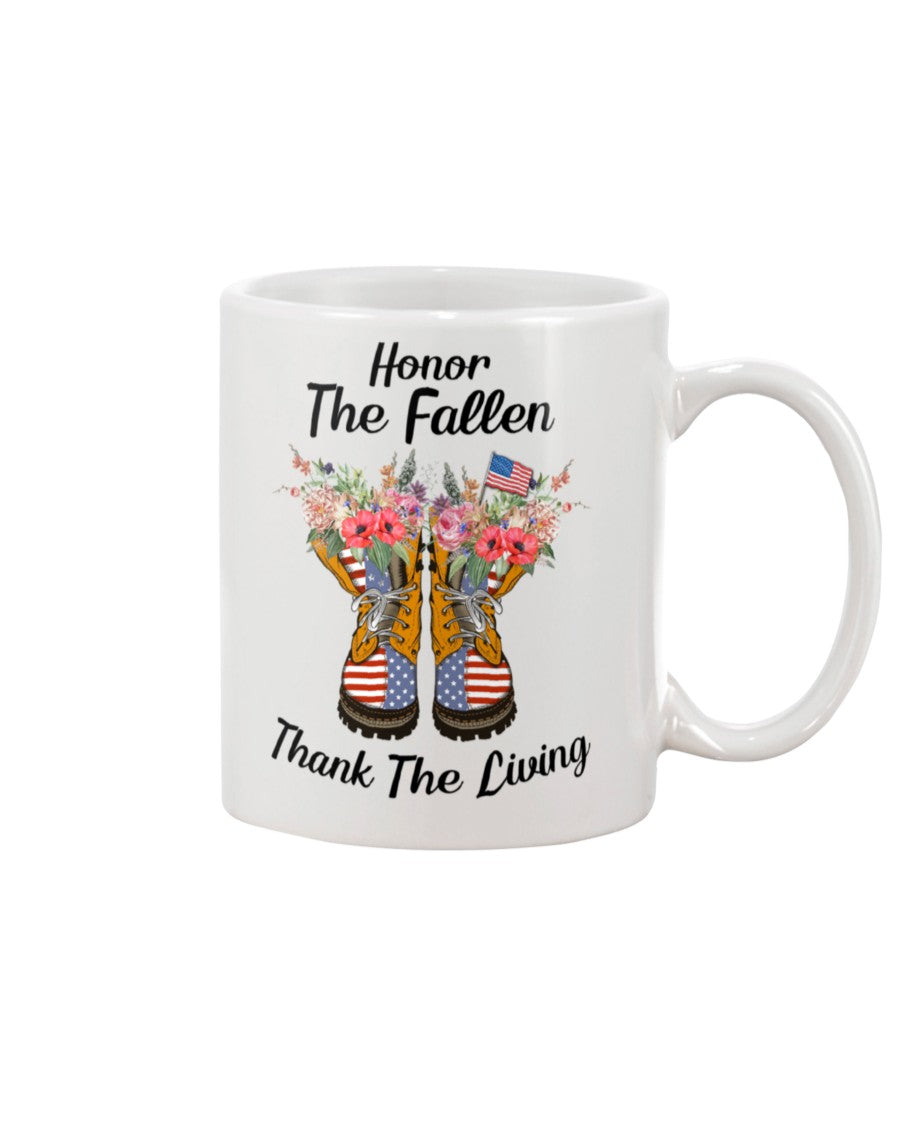 Honor The Fallen Thank The Living Gifts Mug