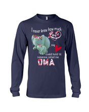 Load image into Gallery viewer, Elephants Someone Called Me Oma Funny Design Unisex Long Sleeve