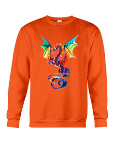 Lovely Tote Bag Colorful Dragon Birthday Gift Sweatshirt