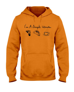 I'm A Simple Woman Custom Design Gift For Bigfoot Lovers Hoodie